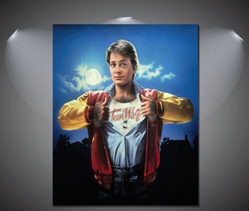 A1 A4 sizes A3 A2 Teen Wolf Michael J Fox Vintage Movie Poster