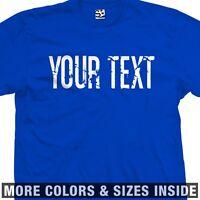 Custom Thin Block Grunge Distressed Vintage T-shirt