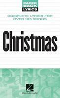 Christmas Lyrics Sheet Music Paperback Lyrics Book 000240273