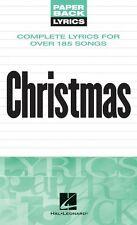 Christmas Lyrics Sheet Music Paperback Lyrics Book NEW 000240273