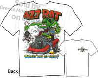 427 Rat Fink T Shirt Ed Big Daddy Roth Tee 1967 Corvette Shirt Sz M L Xl 2xl 3xl