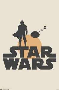 Star Wars: The Mandalorian - Mando and Sleeping The Child Illustration