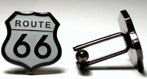 Route 66 USA America Road Trip High Quality Enamel Cufflinks - Guildford, United Kingdom - Buyer Pays Return Postage Most purchases from business sellers are protected by the Consumer Contract Regulations 2013 which give you the right to cancel the purchase within 14 days after the day you receive the item. Find out  - Guildford, United Kingdom