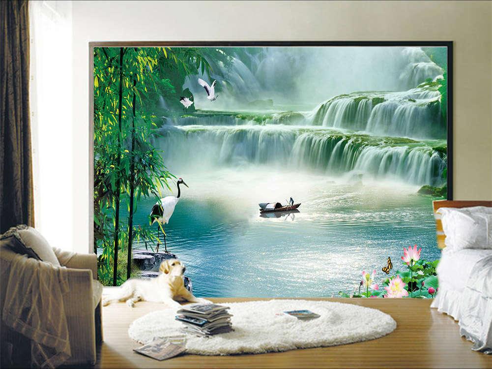 Clear Nice Hotspring 3D Full Wall Mural Photo Wallpaper Printing Home Kids Decor