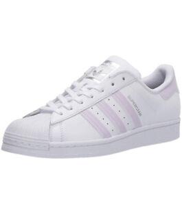 Women-Adidas-Superstar-Lace-Up-034-Shell-Toe-034-Sneaker-Shoe-White-Purple-Tint-FV3374