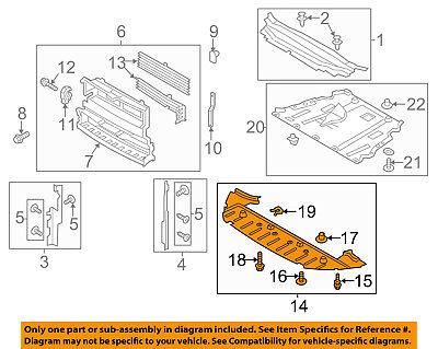 Splash Shield-Under Radiator Engine Cover For FORD 13-16 ESCAPE CJ5Z8310A
