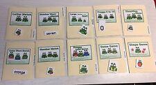 10 File Folder  Set - Laminated - Activity  - Teaching  READING MATH -Froggy Kit
