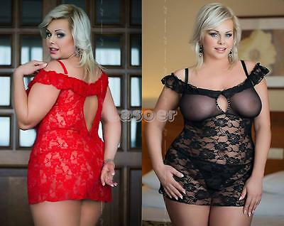 █▬█ █ ▀█▀ Plus Size - Sexy Negligee Dessous Babydoll, XL-XXXL 46-56