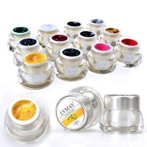 12-Colores-3D-Arte-en-Unas-Color-Acrilico-Pintura-Dibujar-Pintar-UV-Gel-Kit-para-Armar-uno-mismo-de