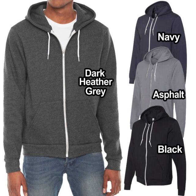 American Apparel F497 Flex Fleece Zip Hoodie L 1 Dark Heather Grey 1 Truffle