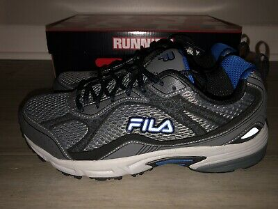 Wide 4E Running Shoes Gray Black Blue