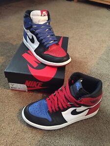 lowest price 58e5a 7ff25 Details about Nike Air Jordan I Retro High OG TOP 3 THREE 9.5