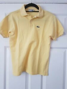 Ladies-Womens-Red-Lacoste-Polo-Shirt-Top-T-Shirt-Size-16
