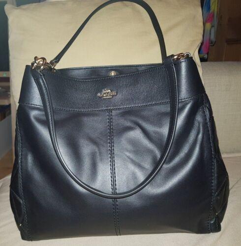 bo Luxury Diamond cadeau cuir te marque Coach avec de Quilt SignatureNoir en Sac 29EYWDHI