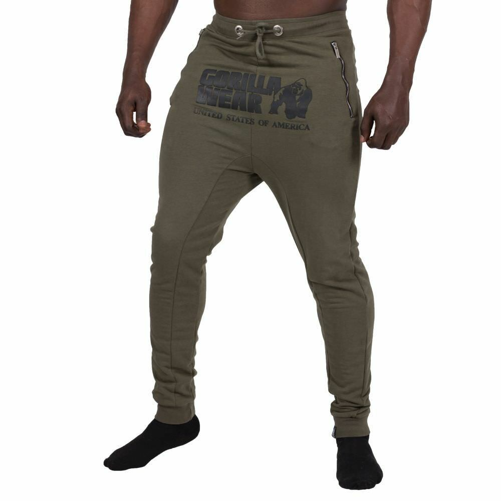 Gorilla Wear Alabama Drop Crotch Joggers Army Grün