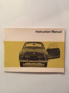 Betriebsanleitung VW Karmann Ghia