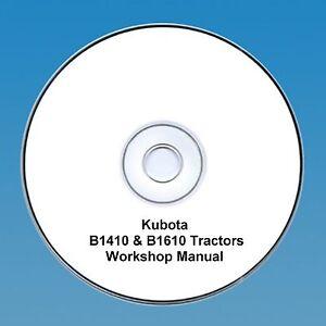 Kubota-B1410-amp-B1610-Tractor-Workshop-Manual