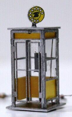 447DM HO Cabina telefonica italiana anni 60//70 montata e con illuminazione int.