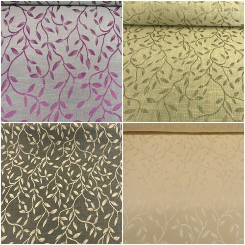 2019 Leaf Soft Damask Curtain Fabric Small Leaves Upholstery Material Curtaining