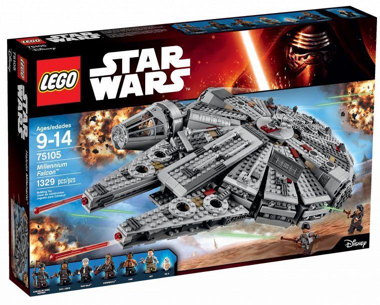LEGO Star Wars 75105 Millennium Falcon Rey Finn HAN SOLO CHEWBACCA Tasu Leech