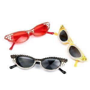 ae7093116fe Image is loading New-2019-Rhinestone-Sunglasses-Women-Vintage-Cat-Eye-