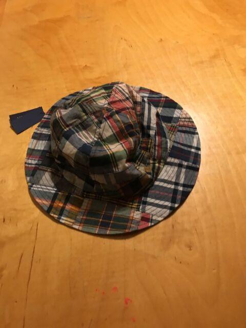 450238de5b093 Polo Ralph Lauren Reversible Bucket Hat Cap Pony Plaid Patchwork ...