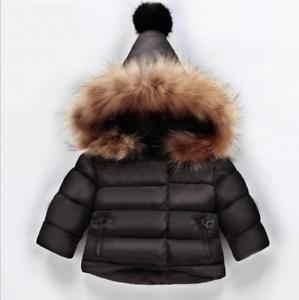 1f2c526ef cute lovely Kids Girls Down Coat Fur collar Thicken Down Coat Jacket ...