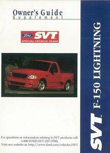 OEM Owner's Manual Ford Truck F-150 Svt Lightning ...