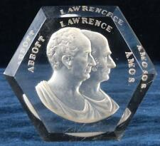 Antique Intaglio Amos & Abbott Lawrence MA New England Glass Co Paperweight 1865
