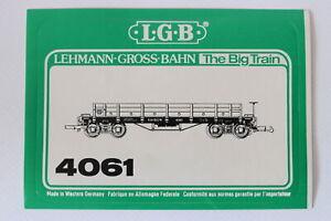 LGB-Original-LGB-Aufkleber-LGB-4061-D-amp-RGW-Niederbordwagen