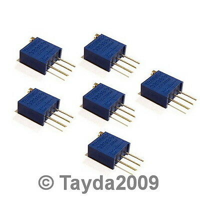10 x 100K OHM TRIMPOT TRIMMER POTENTIOMETER 3296W 3296 - Free Shipping