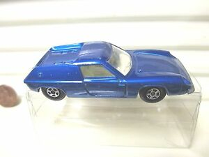 LESNEY-MATCHBOX-MB5A-Blue-LOTUS-EUROPA-with-Silver-UNPainted-Base-Excllnt-Boxed