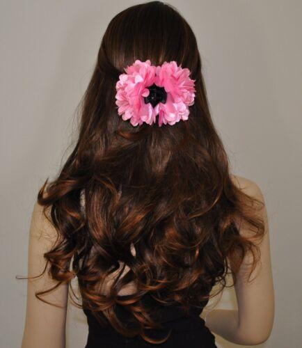 Haarklammer Blume Satin Zopfhalter Haarschmuck Haarclip Haarspange bunte Farben