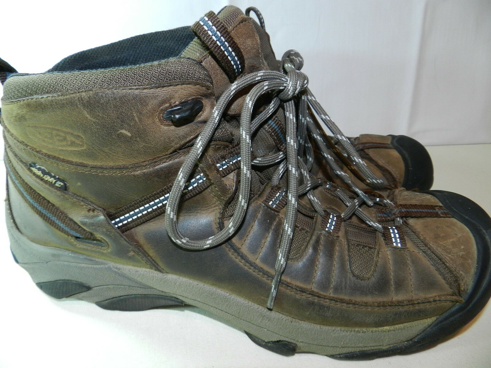 Homme Marron HIKING TRAIL Chaussures KEEN Taille 12 = targhe keendry = ss10