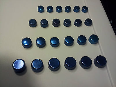 Ford Blue Motor Engine Bolts Caps Covers Dress-up Kit set 24 4 sizes NOS Torino