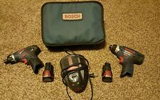 Litheon bosch 12v impact and drill x2 batteries and charger
