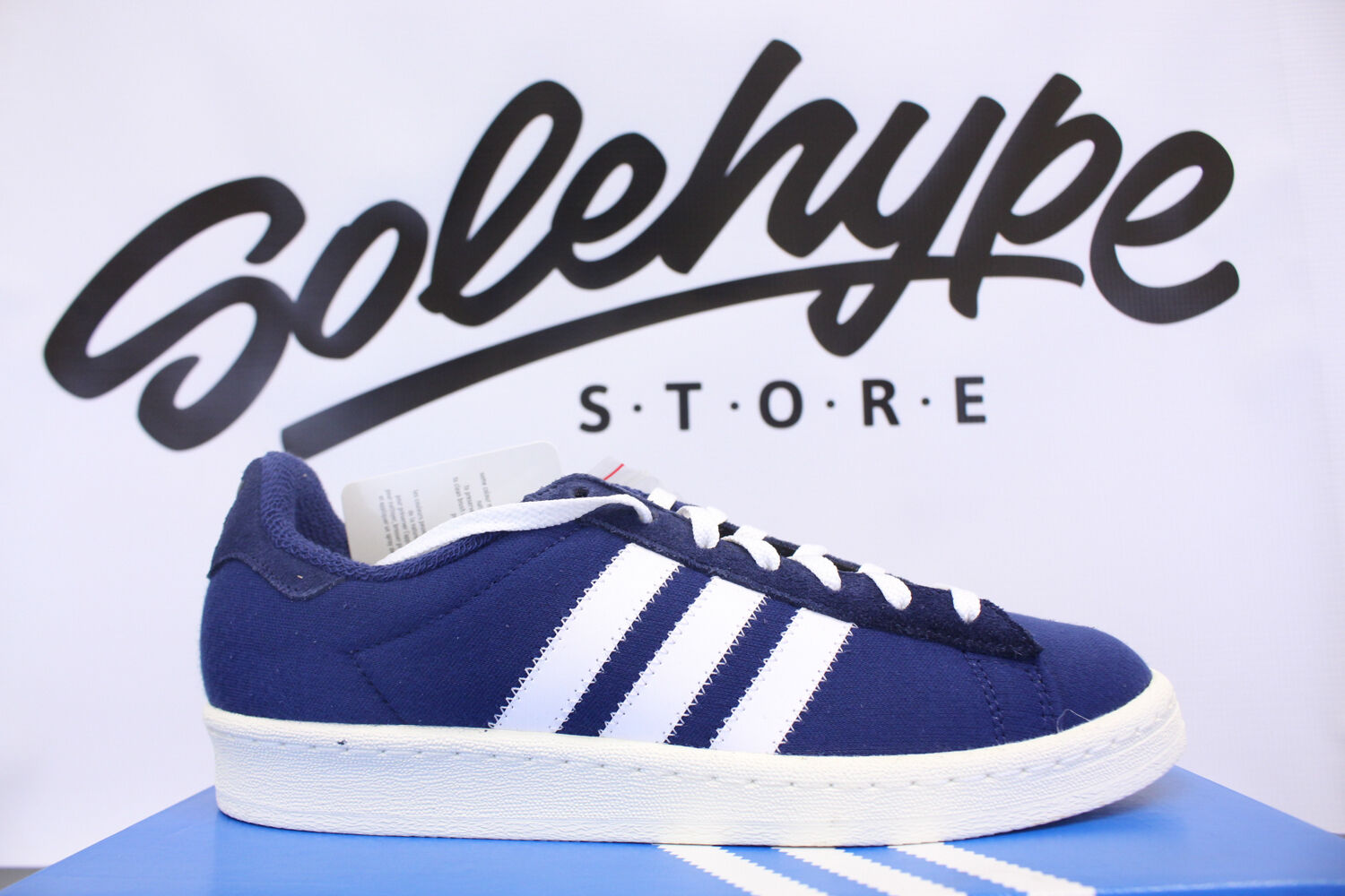 ADIDAS CAMPUS 80'S BW BEDWIN AND THE HEART BREAKERS BLUE WHITE S75674 SZ 6
