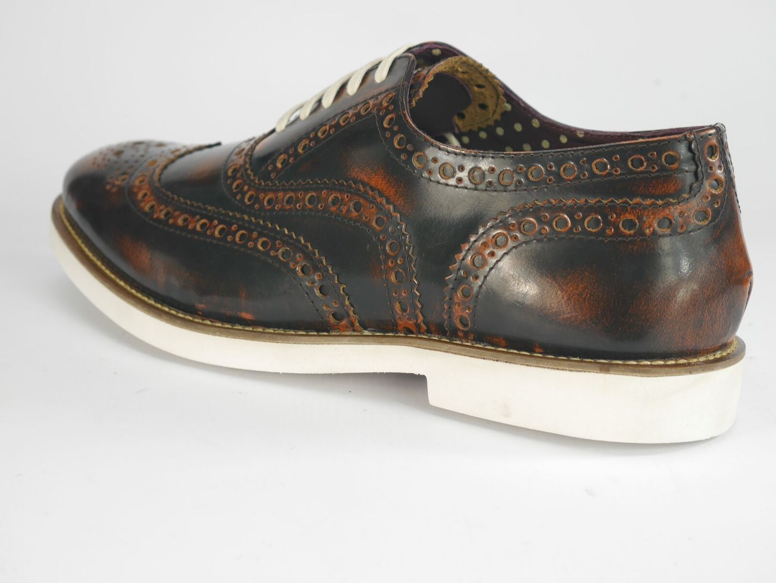 London Brogues Farnham Mens Lace Formal Schuhes Tan / WEISS Formal Lace 2a8bf8