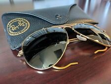 Ray-Ban OUTDOORSMAN Gold Wire Wrap Aviator Sunglasses 58-14 58mm w/ Case RB 3030