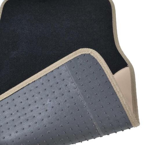 14Pc Car Seat Covers Set Full Bench Black /& Beige w// PU Leather Carpet Floor Mat