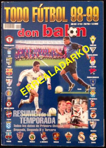 DON BALON EXTRA TODO FUTBOL 98-99 MANCHESTER UNITED-LAZIO-BARCELONA-VALENCIA ETC