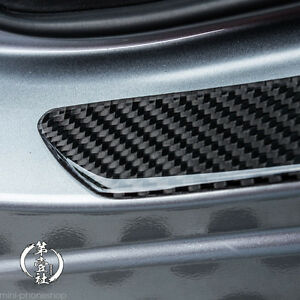 2x 49CM Carbon Fiber Car Scuff Plate Door Sill Cover Panel Step Protector Guard