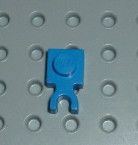 Modified 1 x 1 with Clip Vertical Type 3 PM38 4085c BLUE x 8 PLATE LEGO