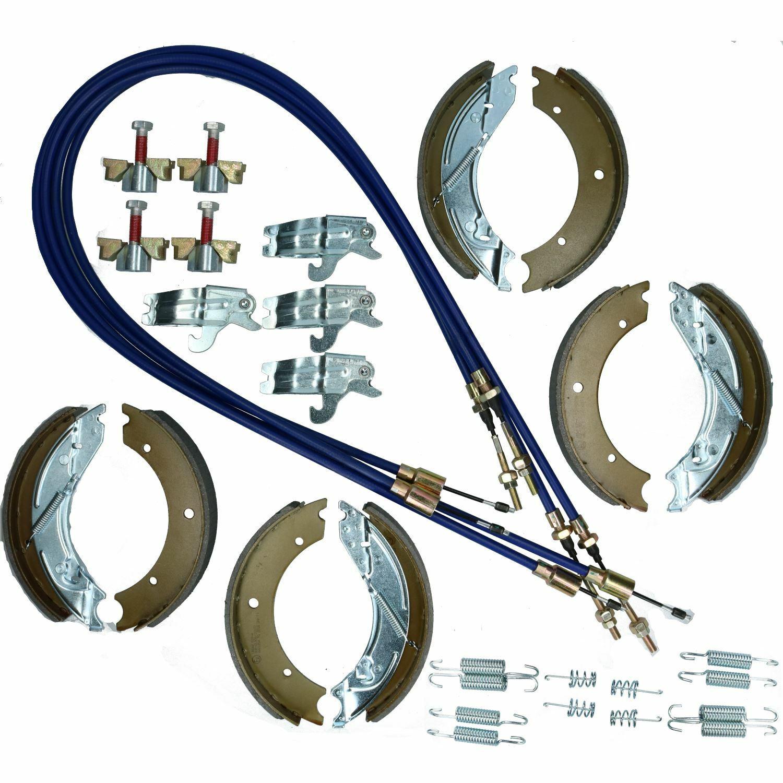 Zapata De Freno & Kit De Cables Para Ifor Williams Ganadería Remolque 14ft TA510 3500kg