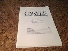 Carver AV-634 Power Amplifier Service Manual ~ Bob Carver