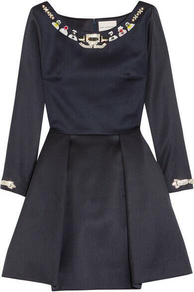 Mary Katrantzou Copelia förskönade ull miniklänningen Storlek 8  1437
