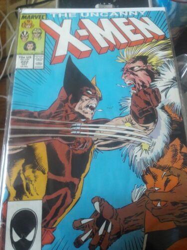 XMEN #222 KEY BATTLE ISSUE WOLVERINE VS SABERTOOTH 1987 VF//NM MARVEL COMICS
