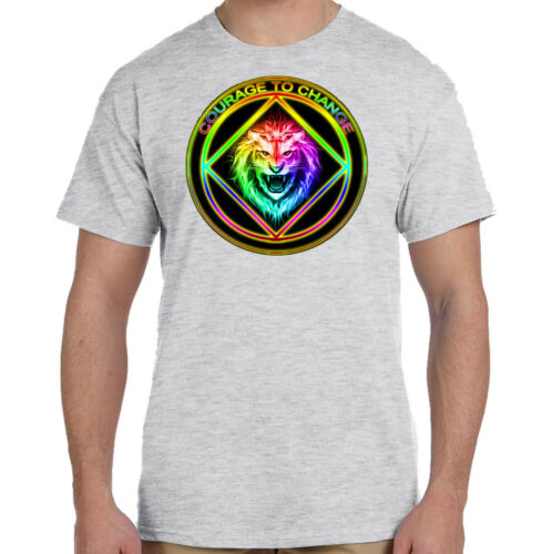 Graphic T Narcotics Anonymous S-4X Select Your Color Courage To Change