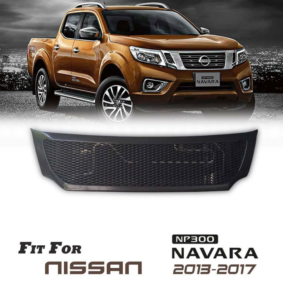 Grill Grille Front Black Net For Nissan Frontier Navara Np300 2013