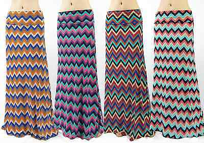 Chevron zigzag high waist maxi long skirt ( S/M/L/X )